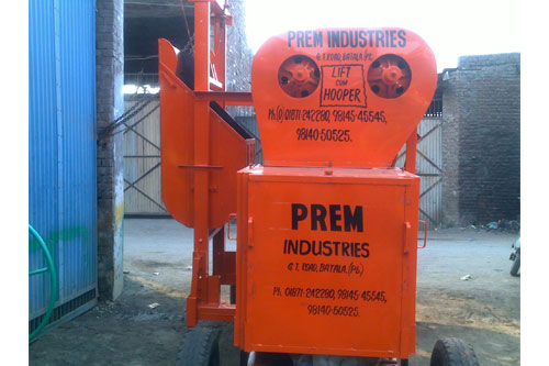 Concrete Mixer with Lift and Hopper